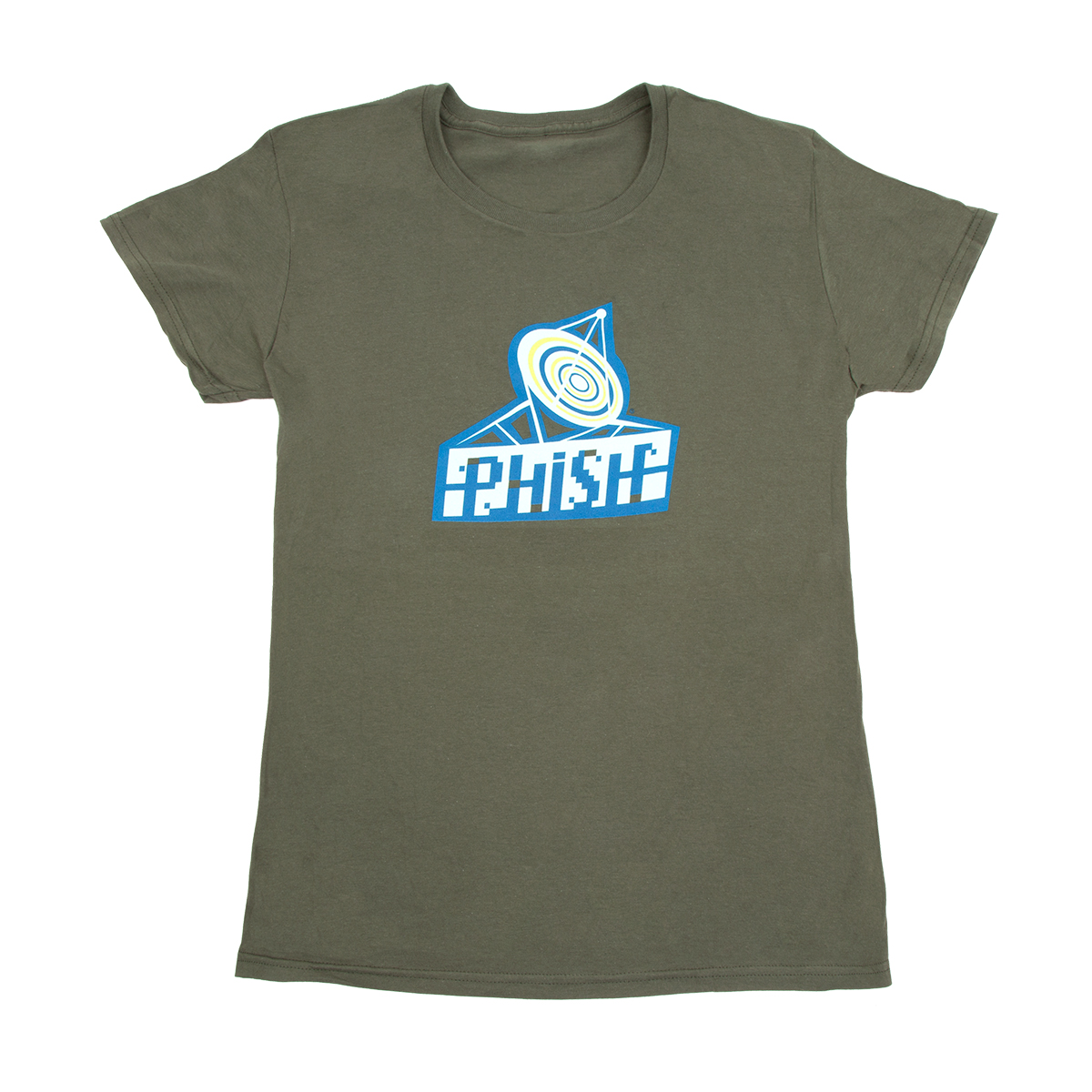 Women's Radio Daze T-Shirt on Army Green