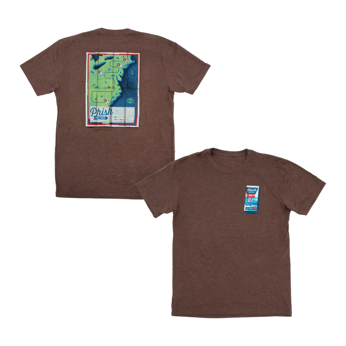 Roadmap Fall Tour T-shirt on Espresso