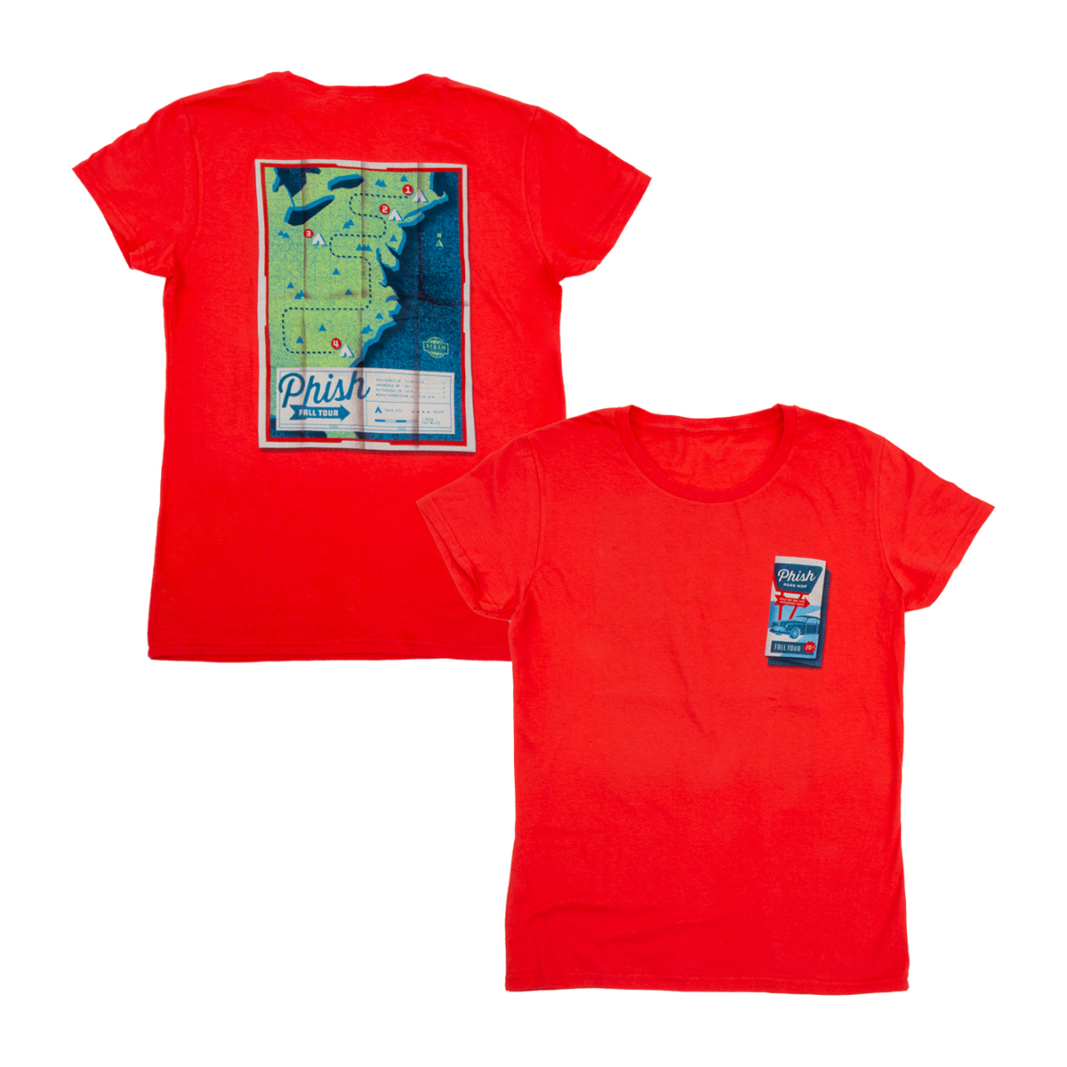 Women's Roadmap Fall Tour T-shirt