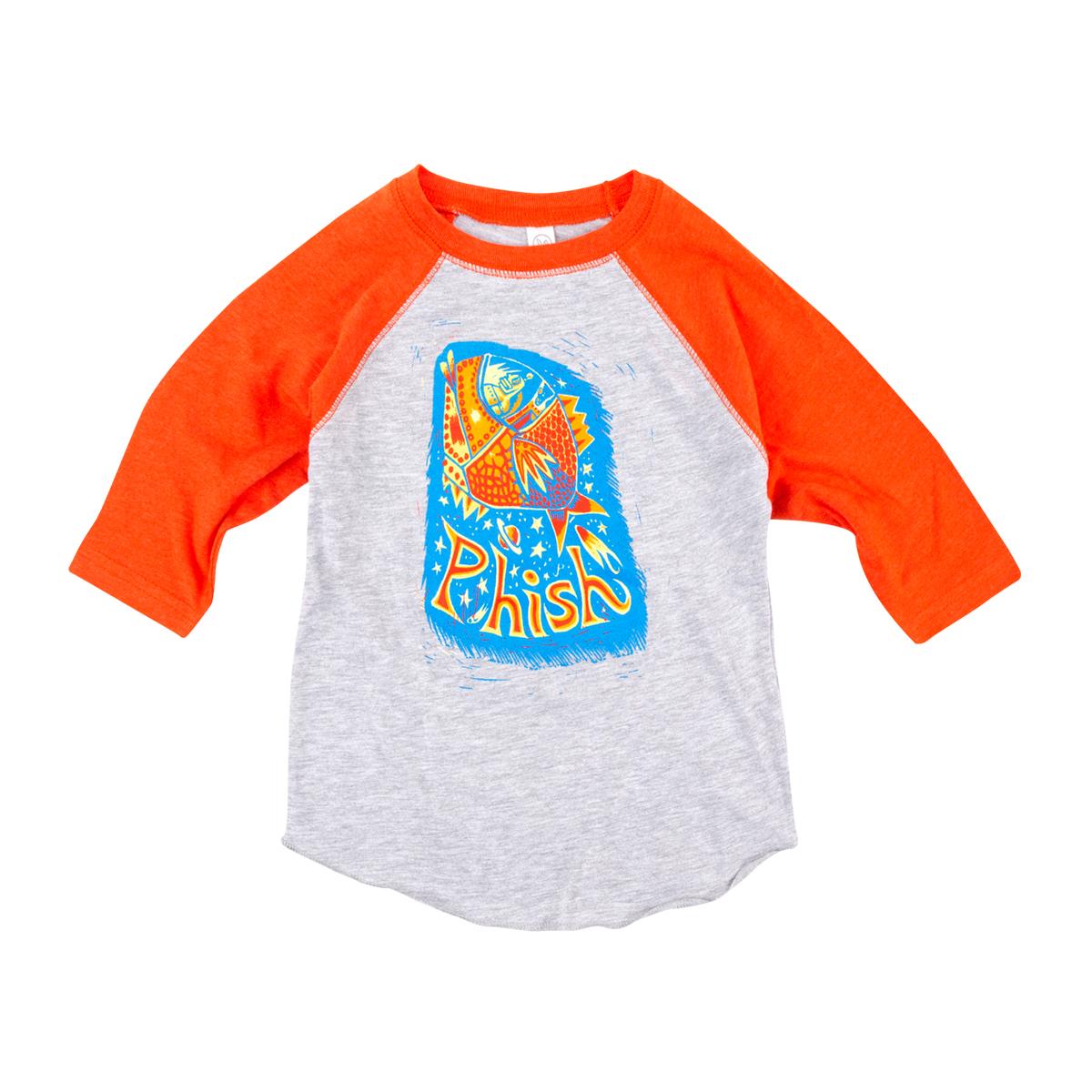 Pollock Rocket Baseball Sleeve Toddler Tee