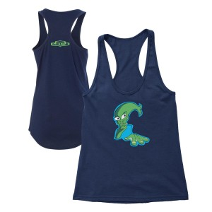 Women's Aquaman Tank Top on Navy