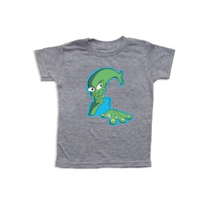 Aquaman Toddler Tee on Heather Grey