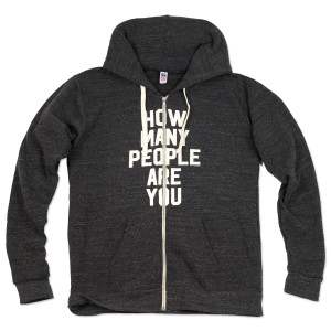 Mike Gordon How Many People Are You Tri-blend Zip-Up Hoodie