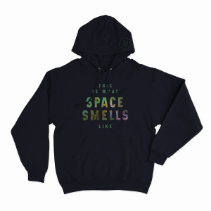 This Is What Space Smells Like NYE 2018 Pullover Hoodie on Navy