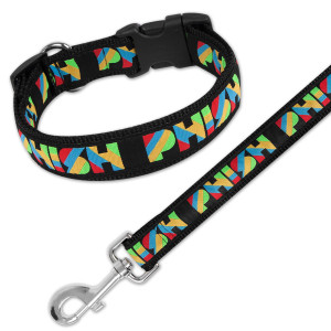Stella Striper Dog Leash & Collar