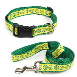 Camp Logo Dog Leash & Collar