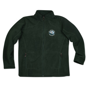 WaterWheel Men's Fleece Jacket on Alpine Green (with or without Shoulder Patch)