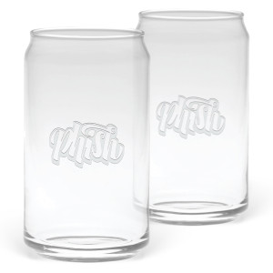 Etched Faux-Can Pint Glass