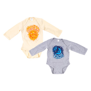 Pollock Sun & Moon Long Sleeve Onesie
