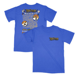 December 1999 Pollock Tour Tee on Royal Blue