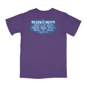 Snowflakes 1999 Tour Tee on Purple