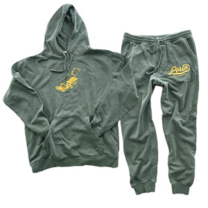 Backyard Tradition Pigment Dyed Joggers & Hoodie Sweat Set