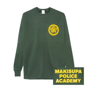 Makisupa Police Academy Long Sleeve T on Forrest