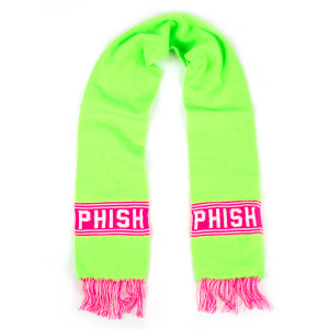 Hockey Knit Scarf (Pink/Green/White