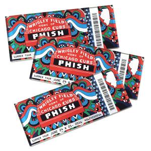 Wrigley Field Ticket Magnet