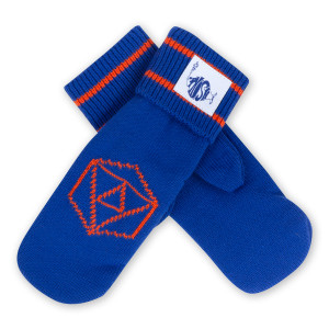 Phish Mittens in Orange/Blue