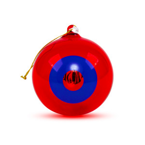 NYE 2018 Run Donut Ornament in Red/Blue