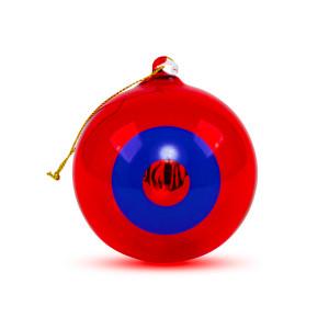NYE 2018 Run Donut Ornament in Red/Blue
