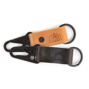 Timber Leather Keychain