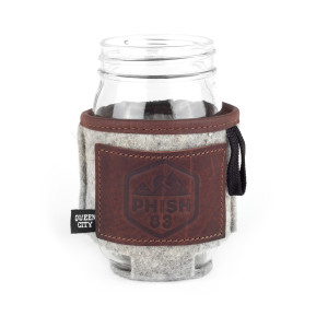 Ascend Leather/Felt Can Cooler