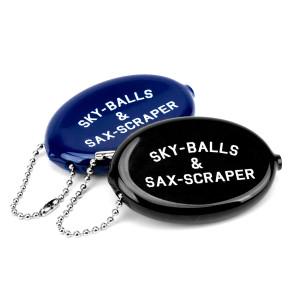 Sky-Balls & Sax-Scraper Retro Rubber Coin Keychain