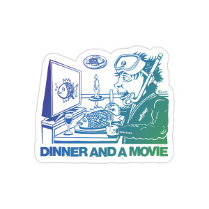 Dinner And A Movie Pollock Fridge Magnet