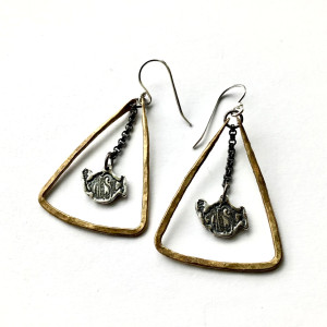 JK x Phish Triangle Earrings
