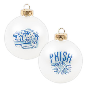 Pollock Ice Fisher Glass Ornament