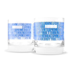Fluffhead Heavy Rocks Glass Set of 2