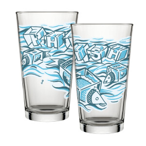Ice Cube Pollock Pint Glass