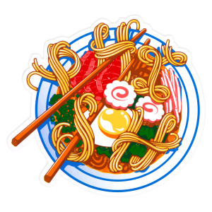 New Year's Run Ramen Sticker