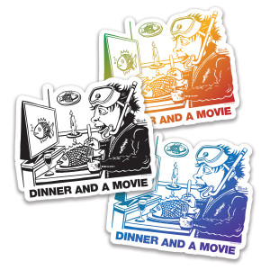 Pollock Dinner And A Movie Sticker