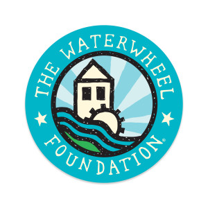 Waterwheel Foundation Round Classic Sticker