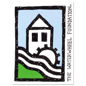 WaterWheel Logo Window Decal
