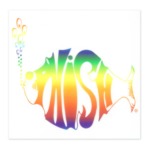 Rainbow Logo Clear Vinyl Window Sticker
