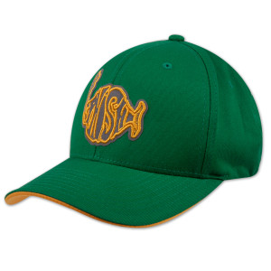 Reflective Classic Logo Baseball Hat on Kelly Green