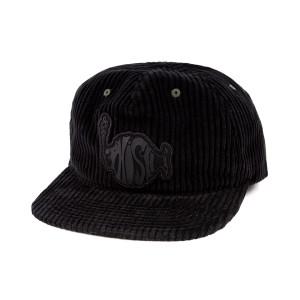 Stealth Black Corduroy Hat