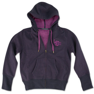 Women's Classic Logo on Recycled Zip Navy/Magenta
