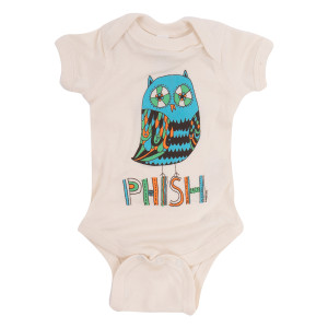 Owl Onesie on Natural