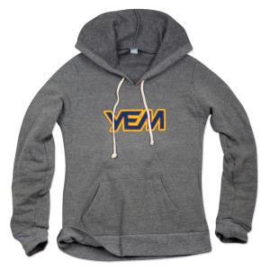 Women's YEM Hoodie on Athletic Gray