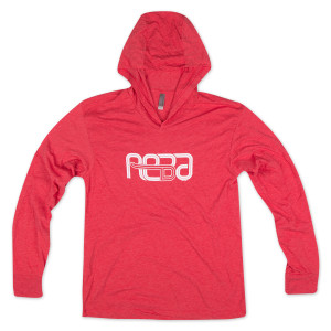 Reba Tri-blend Hoodie on Vintage Red
