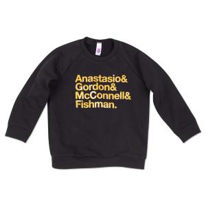 Kids Nomenclature Midnight Gold Sweatshirt