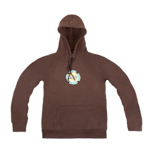 Lotus Pullover Organic Hoodie on Bark