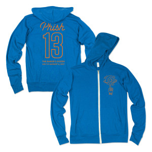 Baker's Dozen Dunk Lightweight Hoodie on Heather Royal Blue