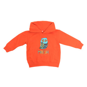 Owl Kids Pullover Hoodie on Orange