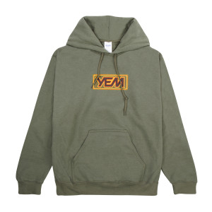 YEM Hoodie on Military Green