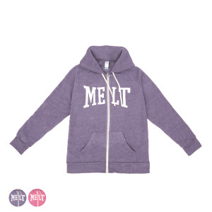 Women's MELT Zip Hoodie on Raspberry