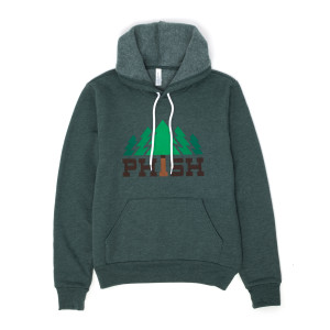 Timber Hoodie on Heather Forest Green
