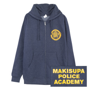 Makisupa Police Academy Zip-Up Fleece Hoodie