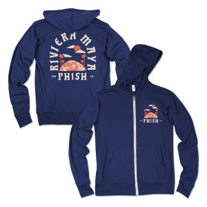 Riviera Maya 2019 Surfer Lightweight Hoodie on Heather Navy